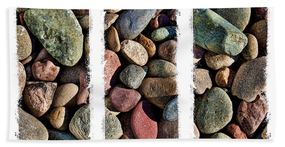 Stones Beach Towel featuring the photograph Stone Triptych 3 by Kelley King
