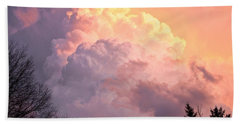 Art Beach Towel featuring the photograph Storm Cloud Moving In On West Michigan by Randall Nyhof