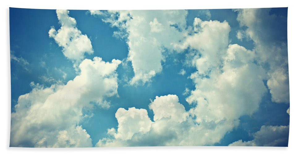 Nature Beach Towel featuring the photograph Storm Clouds - 2 by Paulette B Wright