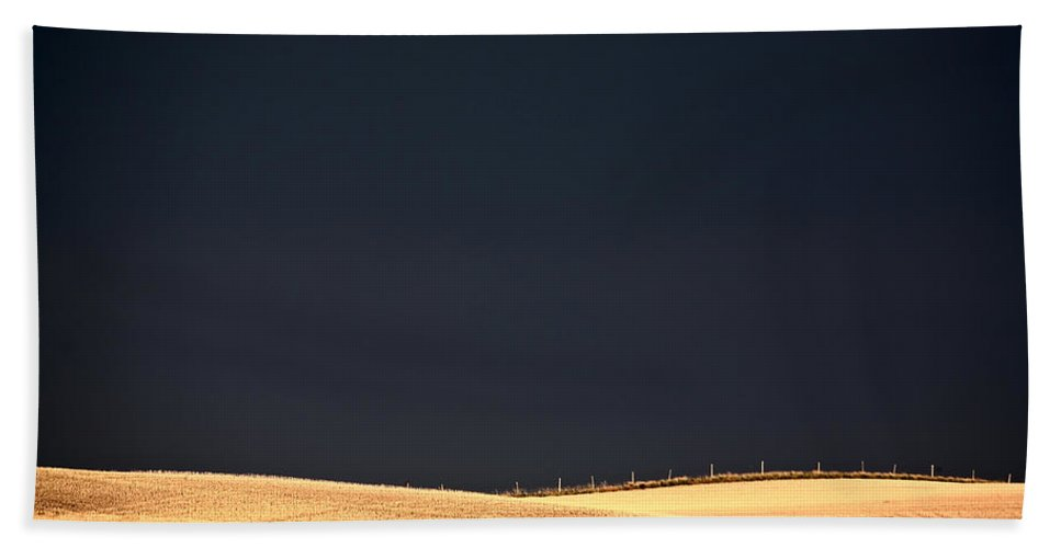 Storm Beach Towel featuring the photograph Storm Clouds Over Missouri Coteau In Saskatchewan by Mark Duffy