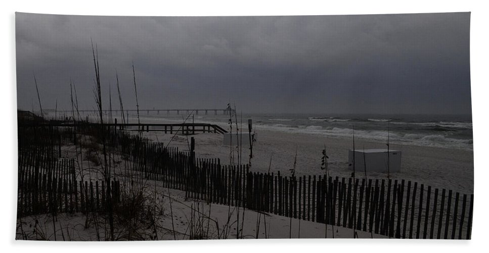 Storm Beach Towel featuring the photograph Stormy Weather Swp by Jim Brage