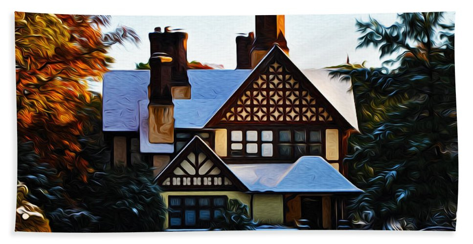 Storybook House Beach Towel featuring the photograph Storybook House by Bill Cannon