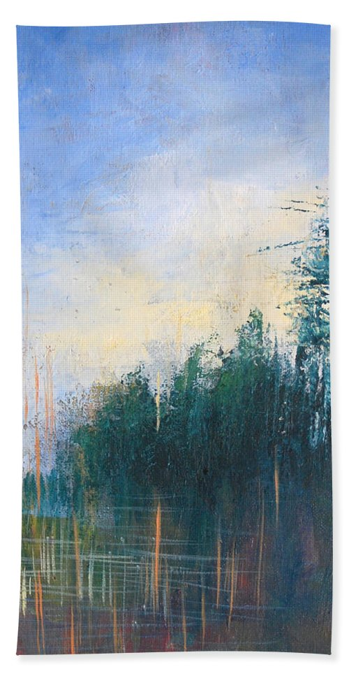 Landscape Beach Towel featuring the painting Stranded by Melissa Peterson