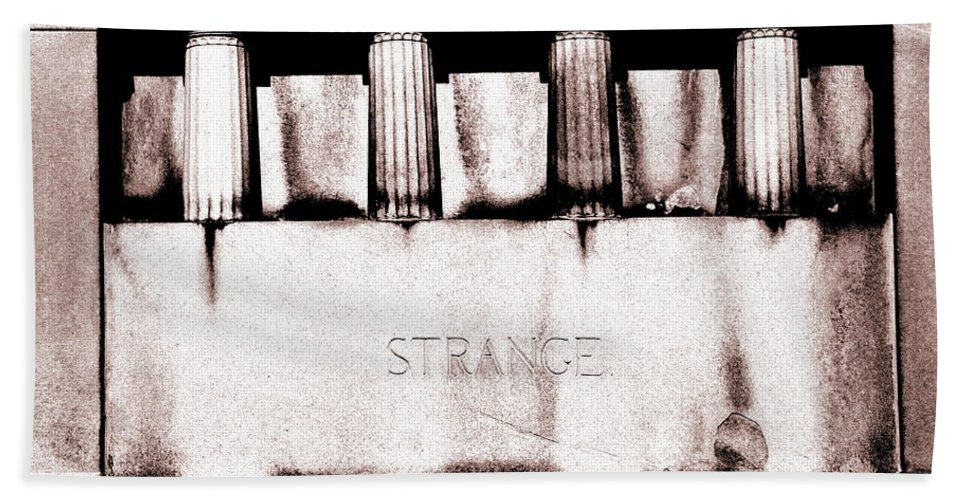 Tomb Beach Towel featuring the photograph Strange by Floyd Menezes