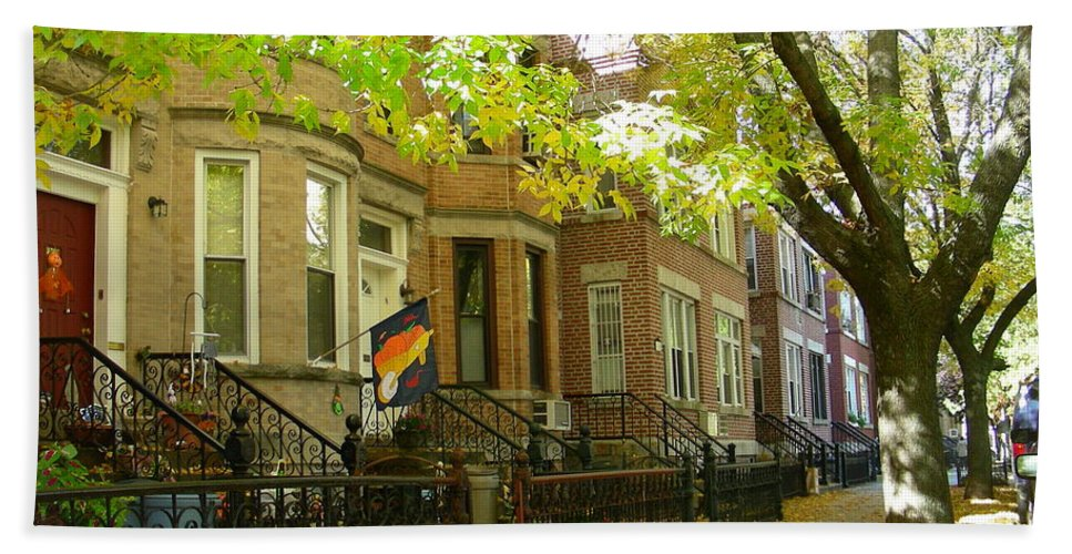 Fall Beach Towel featuring the photograph Windsor Terrace by Mark Gilman
