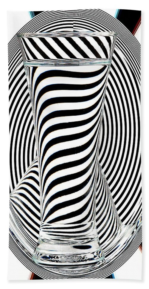 Striped Water Beach Towel featuring the photograph Striped Water 2 by Steve Purnell