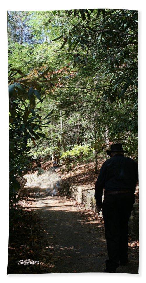 Stroll In The Shadows Beach Towel featuring the photograph Stroll in the Shadows by Seth Weaver