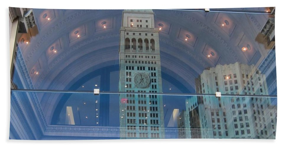 Reflections Beach Towel featuring the photograph Toy Building by Stefa Charczenko