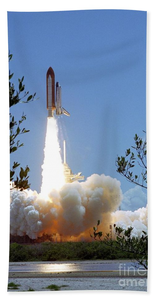 Sts-121 Beach Towel featuring the photograph Sts-121 Launch by Nasa