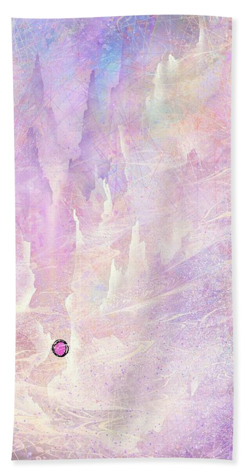 Landscape Beach Towel featuring the digital art Stuck in a moment of time by William Russell Nowicki