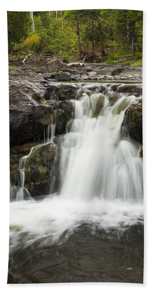 Waterfall Beach Towel featuring the photograph Sucker River Falls 2 J by John Brueske