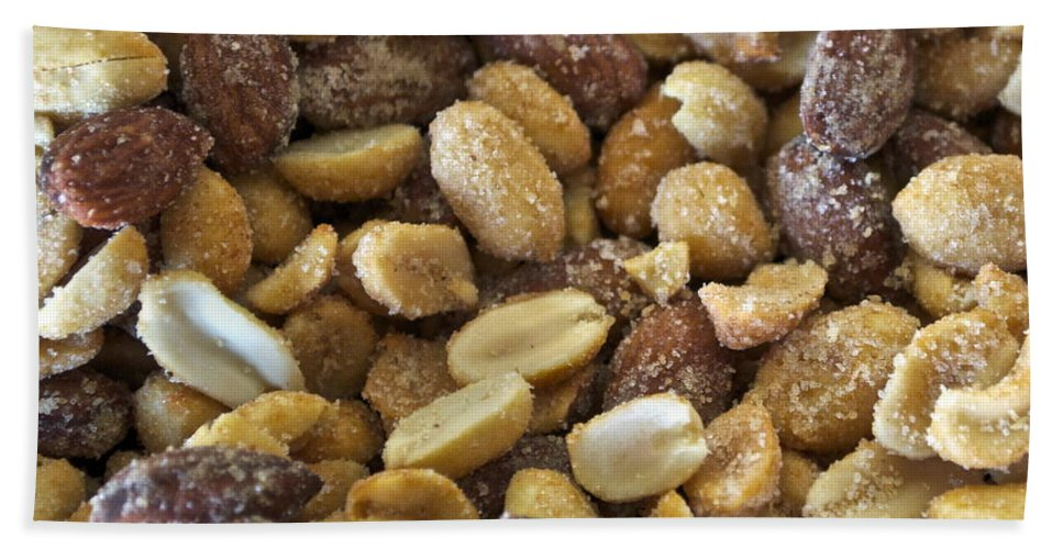 Sugar Beach Towel featuring the photograph Sugar Coated Mixed Nuts by Gwyn Newcombe