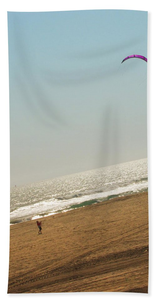 Beach Beach Towel featuring the photograph Summer Wind Kite by Kathleen Grace