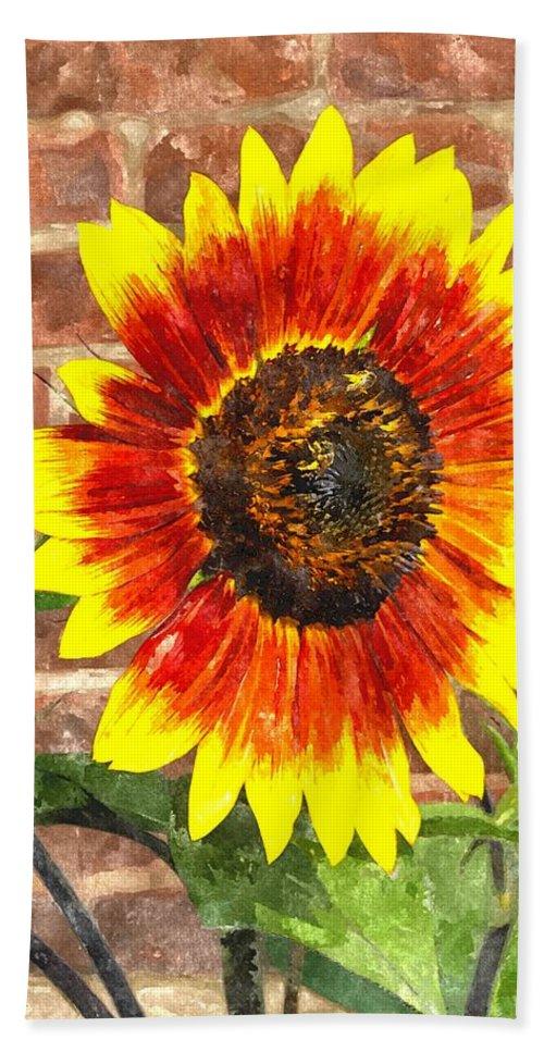 Sun Beach Towel featuring the digital art Sunflower Sfwc by Jim Brage