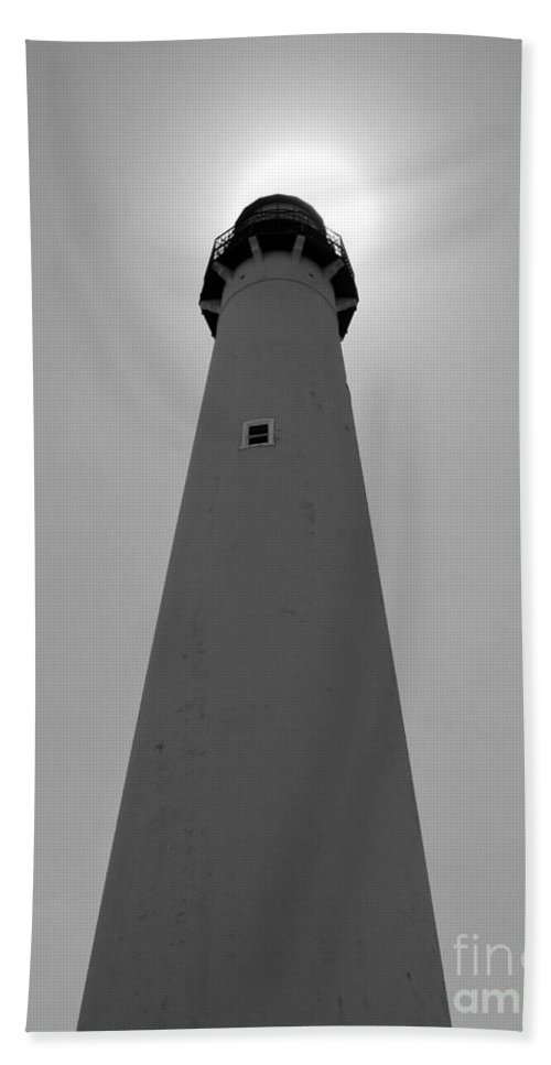 Cape May Lighthouse Beach Towel featuring the photograph Sunlight by Nancy Patterson