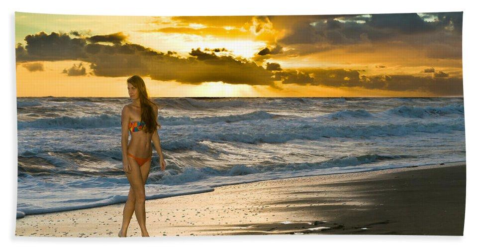 Swimsuit Beach Towel featuring the photograph Sunna by Robert Swinson