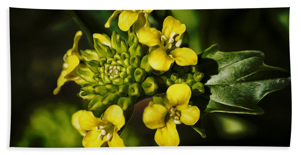 Flower Beach Towel featuring the photograph Sunny Floret by Linda Tiepelman