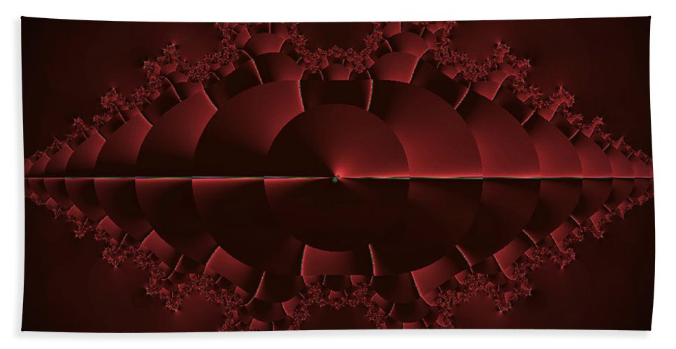 Fractal Beach Towel featuring the photograph Sunrise At Red Lake - Otherworld by Mother Nature