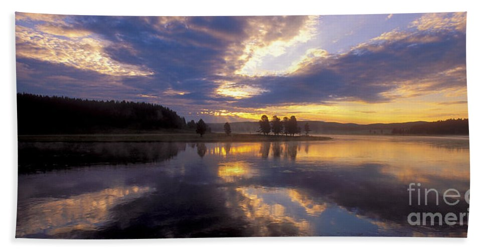 Bronstein Beach Towel featuring the photograph Sunrise Reflections by Sandra Bronstein