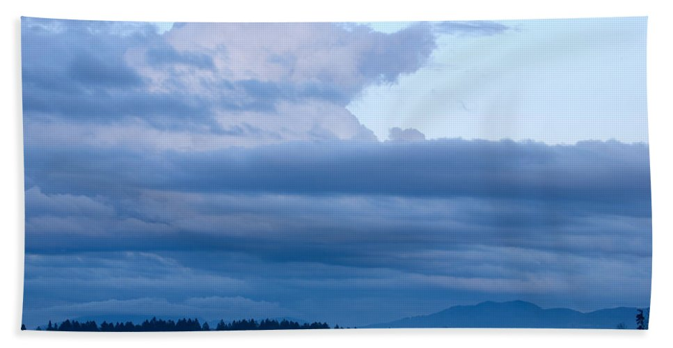 Brnik Beach Towel featuring the photograph Sunset After The Storm by Ian Middleton
