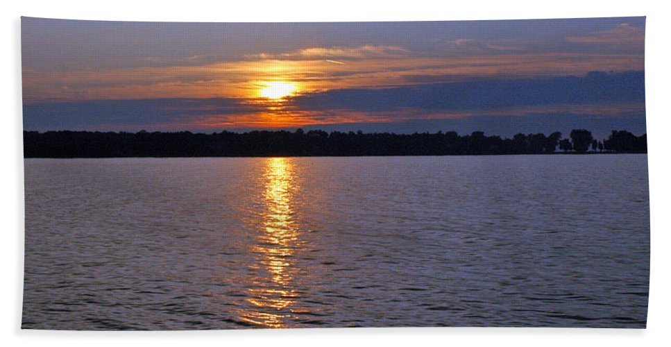 Usa Beach Towel featuring the photograph Sunset Egg Harbor by LeeAnn McLaneGoetz McLaneGoetzStudioLLCcom