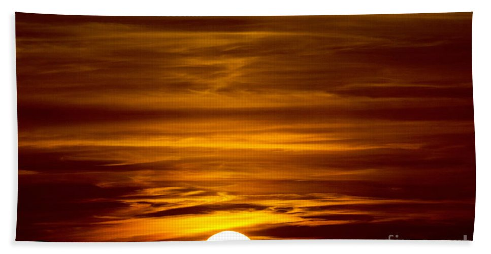 Sun Beach Towel featuring the photograph Sunset In Tuscany by Mats Silvan