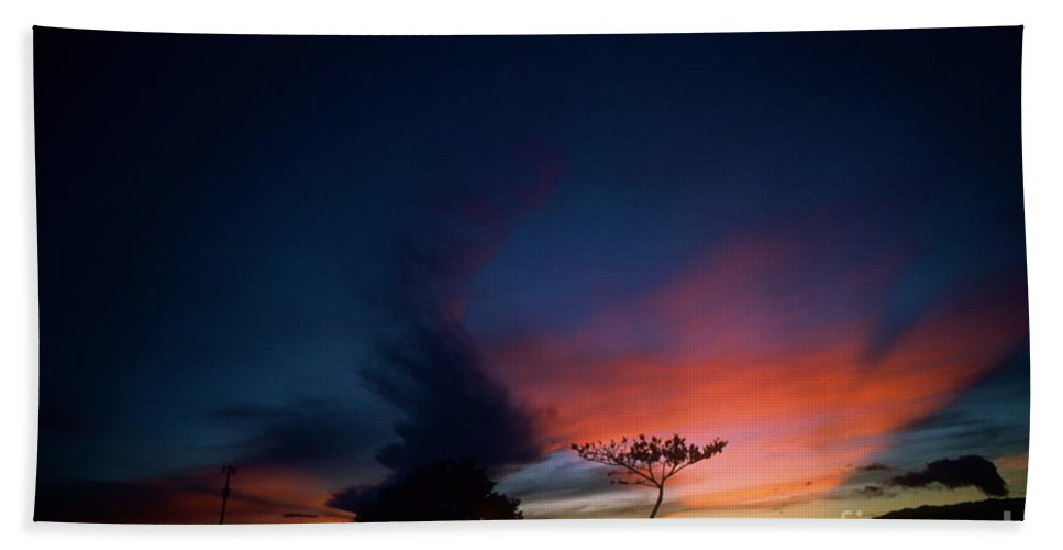 Oahu Beach Towel featuring the photograph Sunset Leeward Oahu by Mark Gilman
