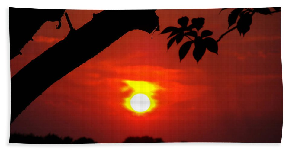 Sunset Beach Towel featuring the photograph Sunset Over The Golf Course by Kimberly Perry