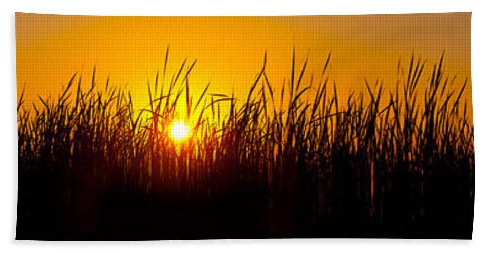 Goose Beach Towel featuring the photograph Sunset Over The Prairie by Steve Gadomski
