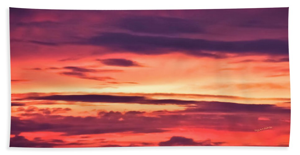 Sunset Beach Towel featuring the photograph Sunset Skyscape by DigiArt Diaries by Vicky B Fuller