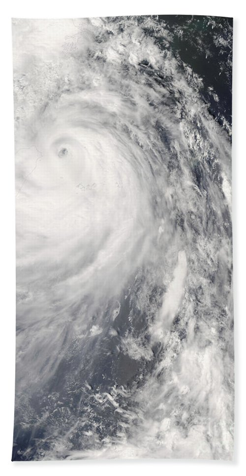 China Beach Towel featuring the photograph Super Typhoon Wipha by Stocktrek Images