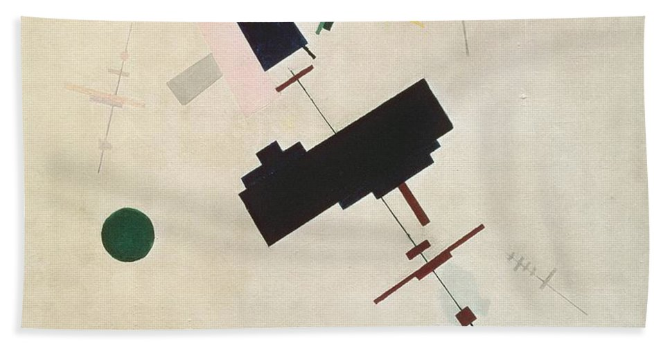 Suprematisme; Suprematism; Abstract; Constructivist; Geometric Beach Towel featuring the painting Suprematist Composition No 56 by Kazimir Severinovich Malevich