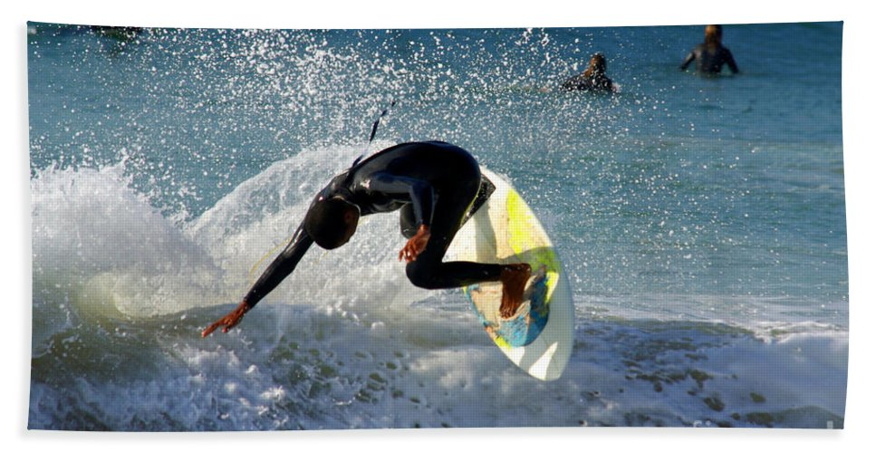 Active Beach Towel featuring the photograph Surfer by Carlos Caetano