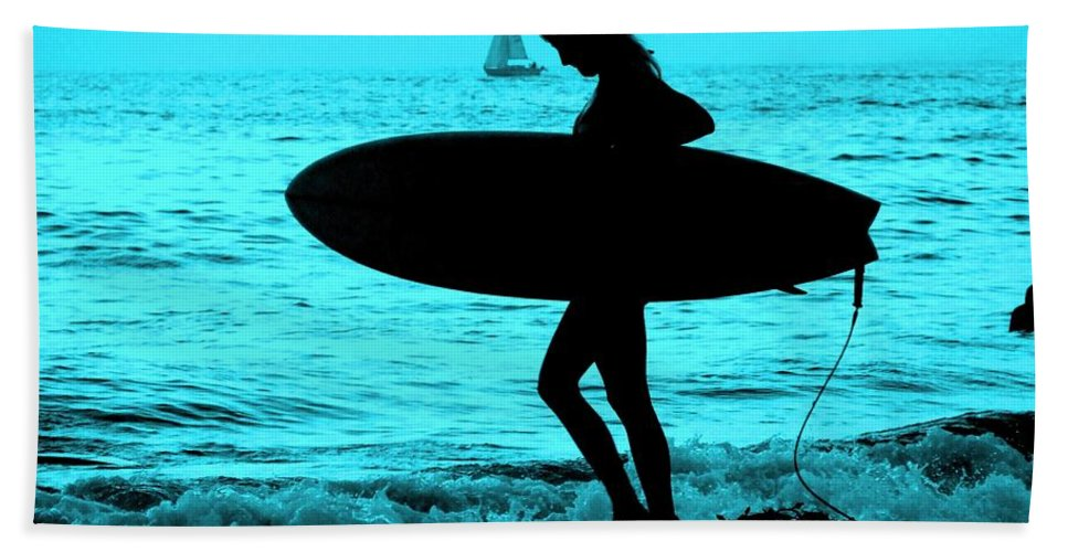 Surf Beach Towel featuring the photograph Surfs Up Blue by Corey Maki