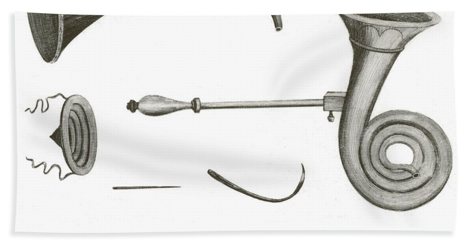 Historical Beach Towel featuring the photograph Surgical Instruments, 18th Century by Science Source