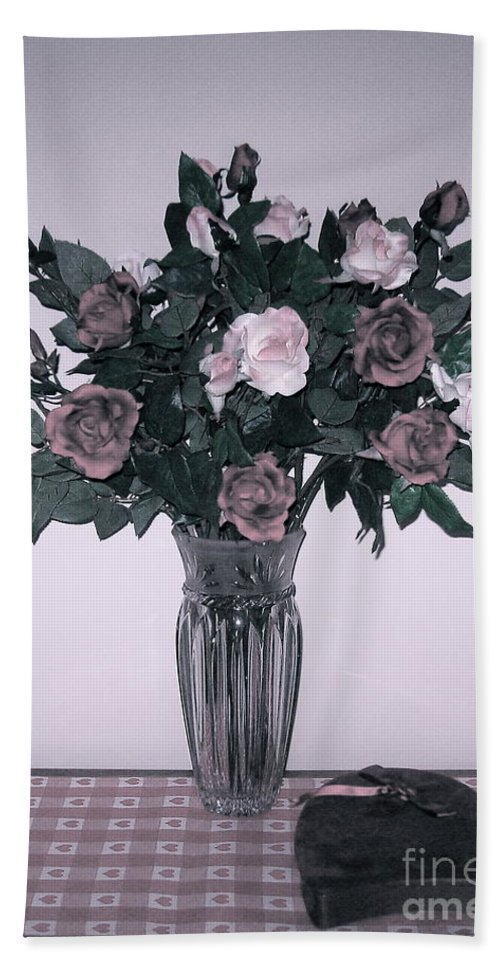 Bouquet Of Roses Beach Towel featuring the photograph Sweet Valentine Bouquet by Nancy Patterson