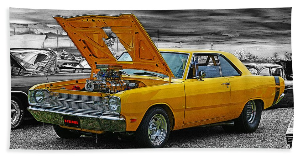 Cars Beach Towel featuring the photograph Swinger Muscle Car by Randy Harris