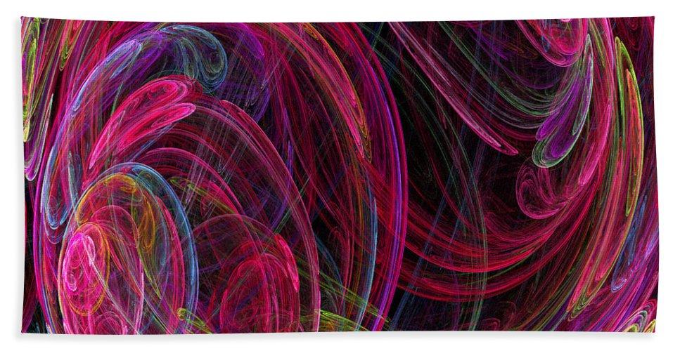 Energy Beach Towel featuring the digital art Swirling Energy by Ricky Barnard