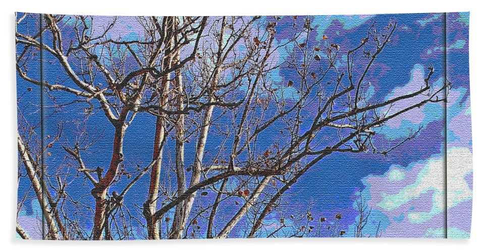 Nature Beach Towel featuring the photograph Sycamore Tree Branch Art by Debbie Portwood