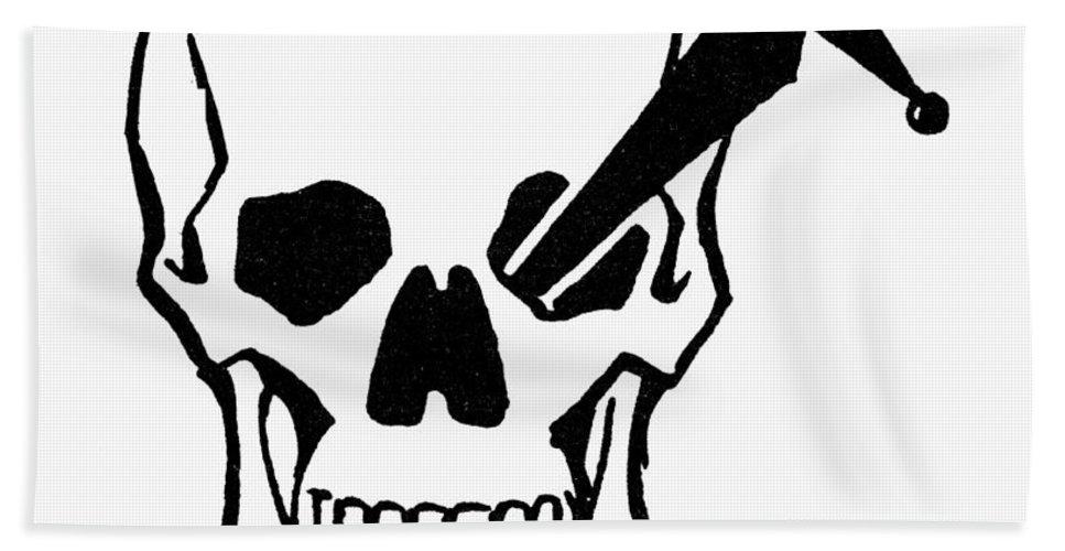 Dagger Beach Towel featuring the photograph Symbol: Skull & Dagger by Granger