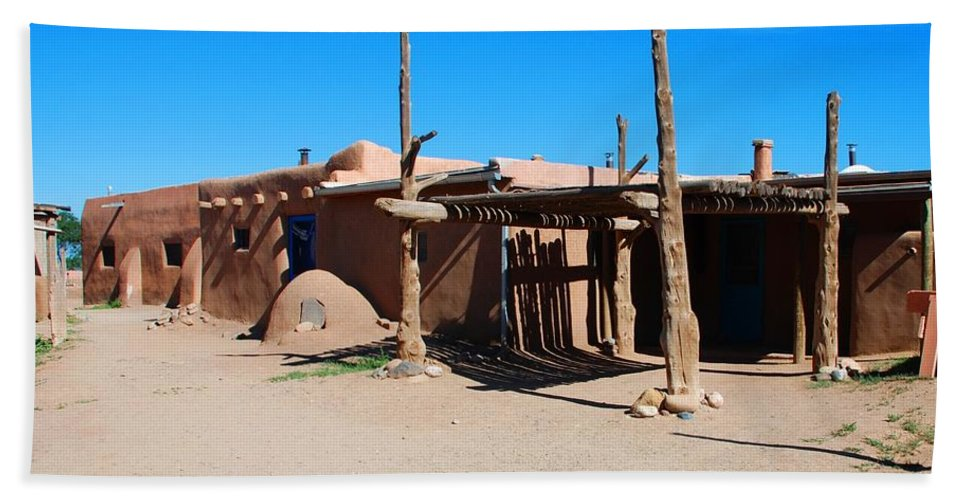 Pueblo Beach Towel featuring the photograph Taos Pueblo by Dany Lison