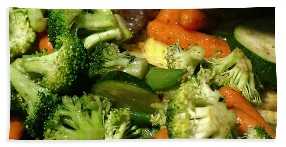 Vegetables Beach Towel featuring the photograph Tasty Veggie Stir Fry by Ben Upham III