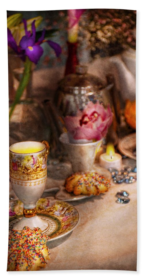 Tea Beach Towel featuring the photograph Tea Party - The Magic Of A Tea Party by Mike Savad