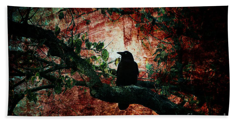 Bird Beach Towel featuring the photograph Tempting Fate by Andrew Paranavitana