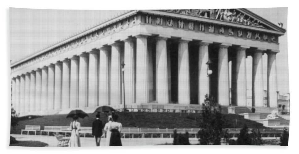 Parthenon Beach Towel featuring the photograph Tennessee Centennial In Nashville - The Parthenon - C 1897 by International Images