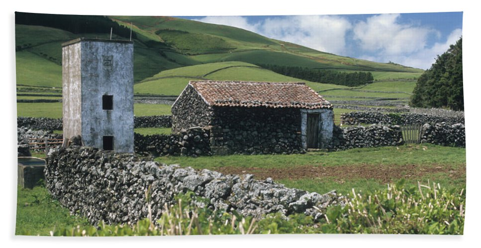 Farm Beach Towel featuring the photograph Terceira by Guy Whiteley