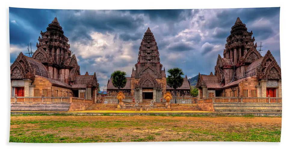 Architecture Beach Towel featuring the photograph Thai Temple by Adrian Evans