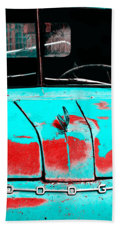 Truck Beach Towel featuring the photograph That Old Dodge by Terry Fiala