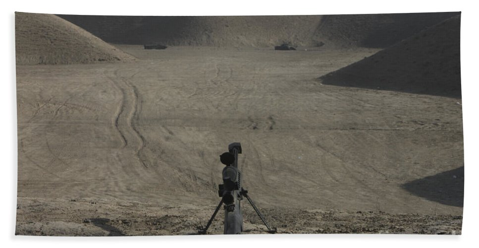 Afghanistan Beach Towel featuring the photograph The Barrett M82a1 Sniper Rifle by Terry Moore