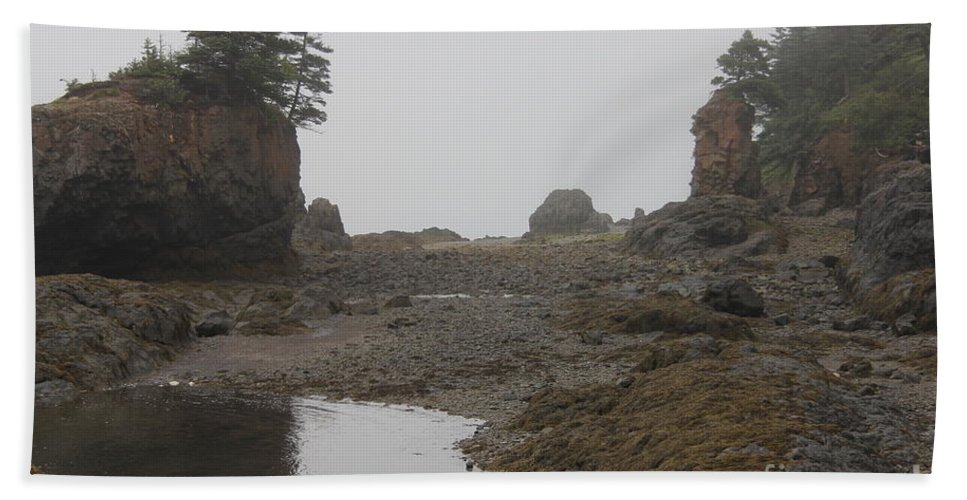 Fundy Beach Towel featuring the photograph The Bay Of Fundy by Diane Greco-Lesser